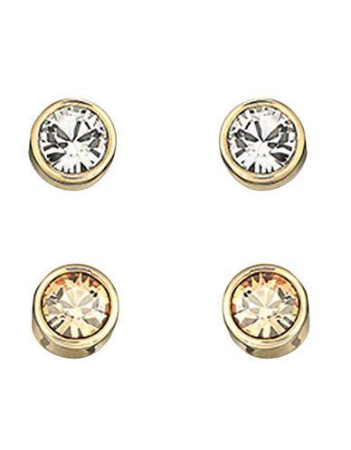 fd1eaaa15 Swarovski Harley Goldtone Crystal Stud Earrings Women's Gold ...