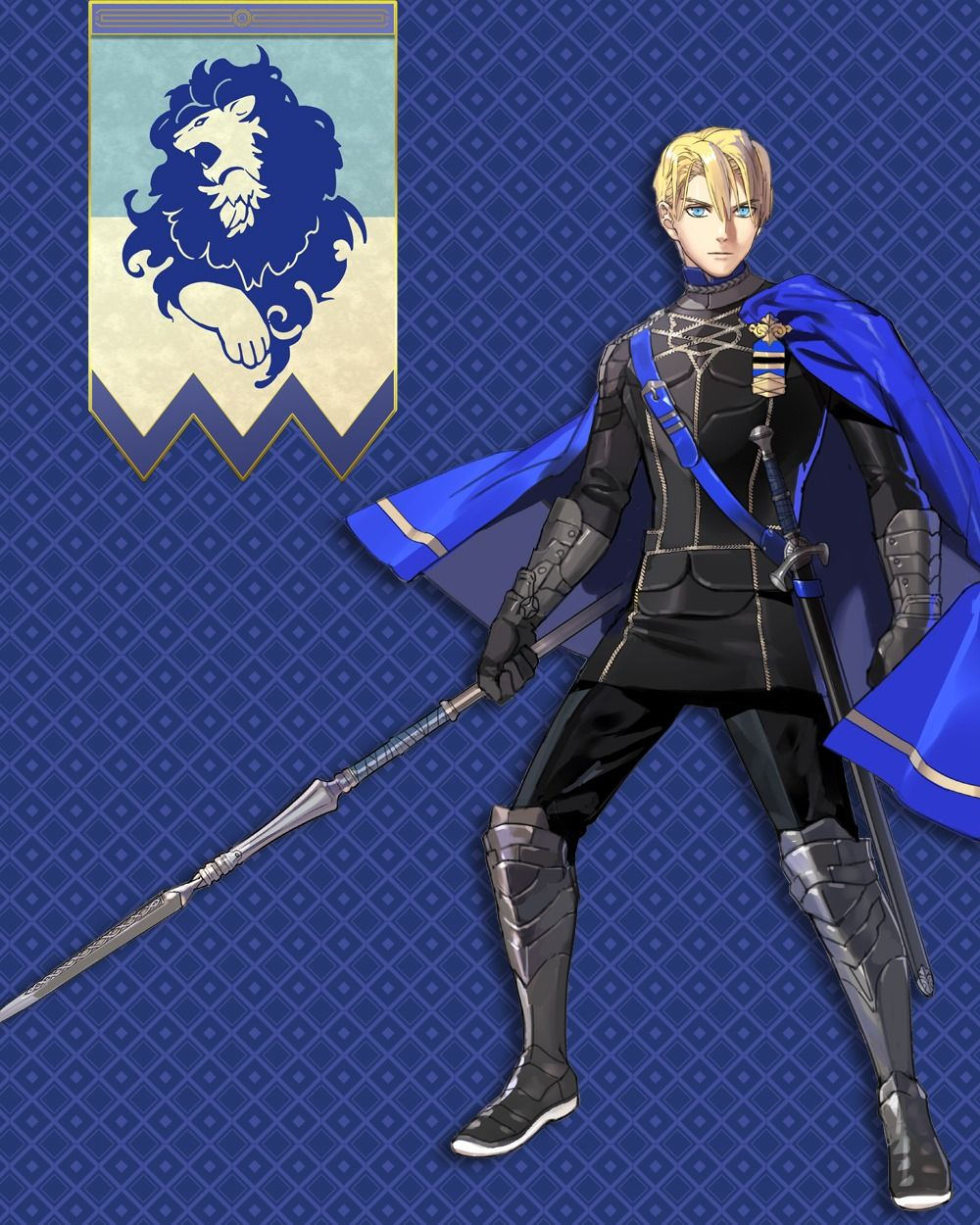 In Fire Emblem Three Houses Dimitri Is House Leader Of The Blue Lions And Next In Line To The Throne Fire Emblem Characters Fire Emblem Fire Emblem Wallpaper