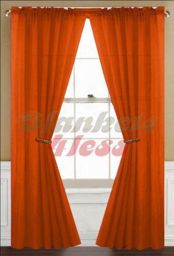 Orange Sheer Orange Bedroom Decor Sheer White Window Treatments Panel Curtains