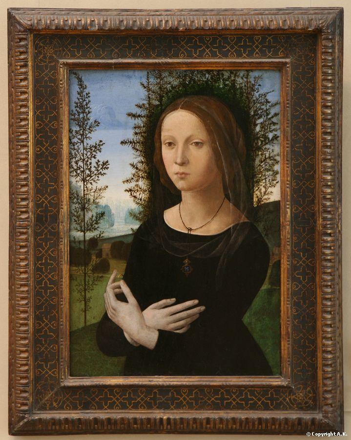Lorenzo di Credi (c.1456-1536) : Portrait of a Woman. c. 1490-1500. © Metropolitan Museum of Art, New York.