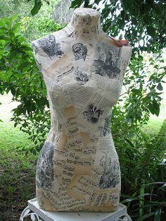 how to make a paper mache dress form | Sewing | Pinterest | Dress ...