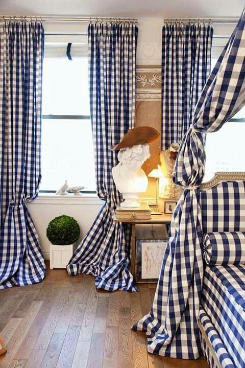 Pin de Liany Stella SantodomingoQuintero en Cortinas Pinterest - cortinas azules
