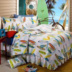 Surfboard Comforter For Guest Bed In Nursery