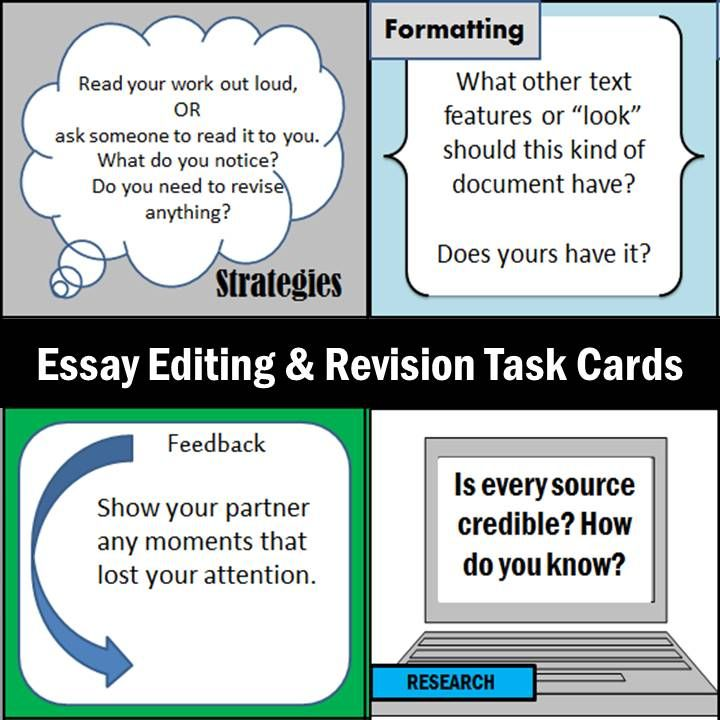 Essay About Learning English  Task Cards For Secondary Ela Students To Help Editrevise Essays Sample Essay With Thesis Statement also High School Essay Topics Editing  Revision Kit Checklist Activity  Task Cards  Reading  Paper Essay