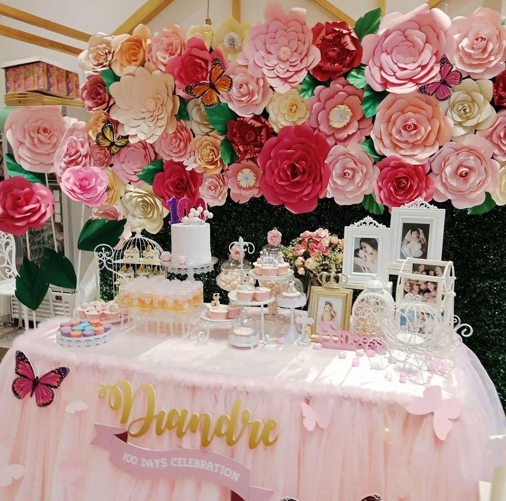 Princess Fluer Garden Theme Birthday Party Ideas Photo 3 Of 4 Garden Theme Birthday Slumber Party Birthday Birthday Parties