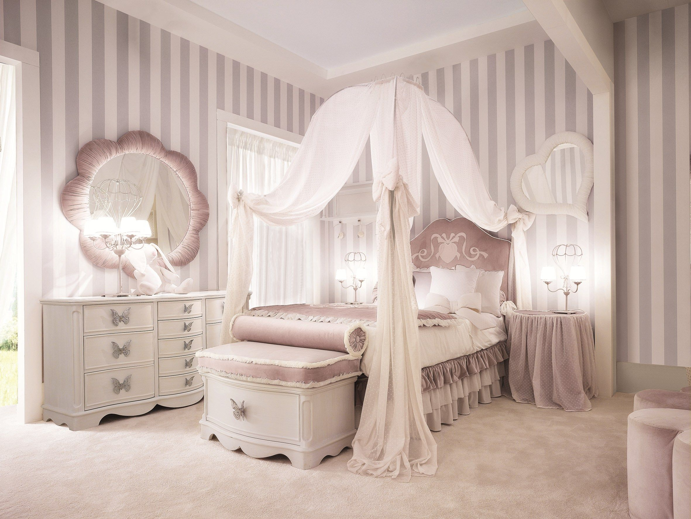 TIFFANY Bed with upholstered headboard by Dolfi