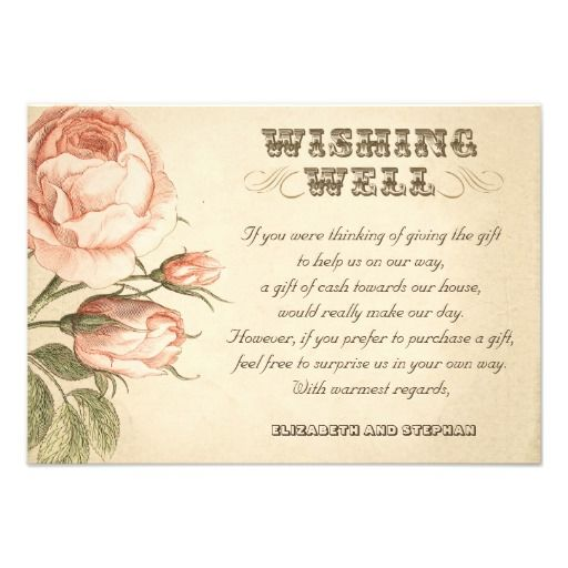 Ways To Save Money On Wedding Invitations: Invitation Idea If Requesting Money Rather Than Gifts