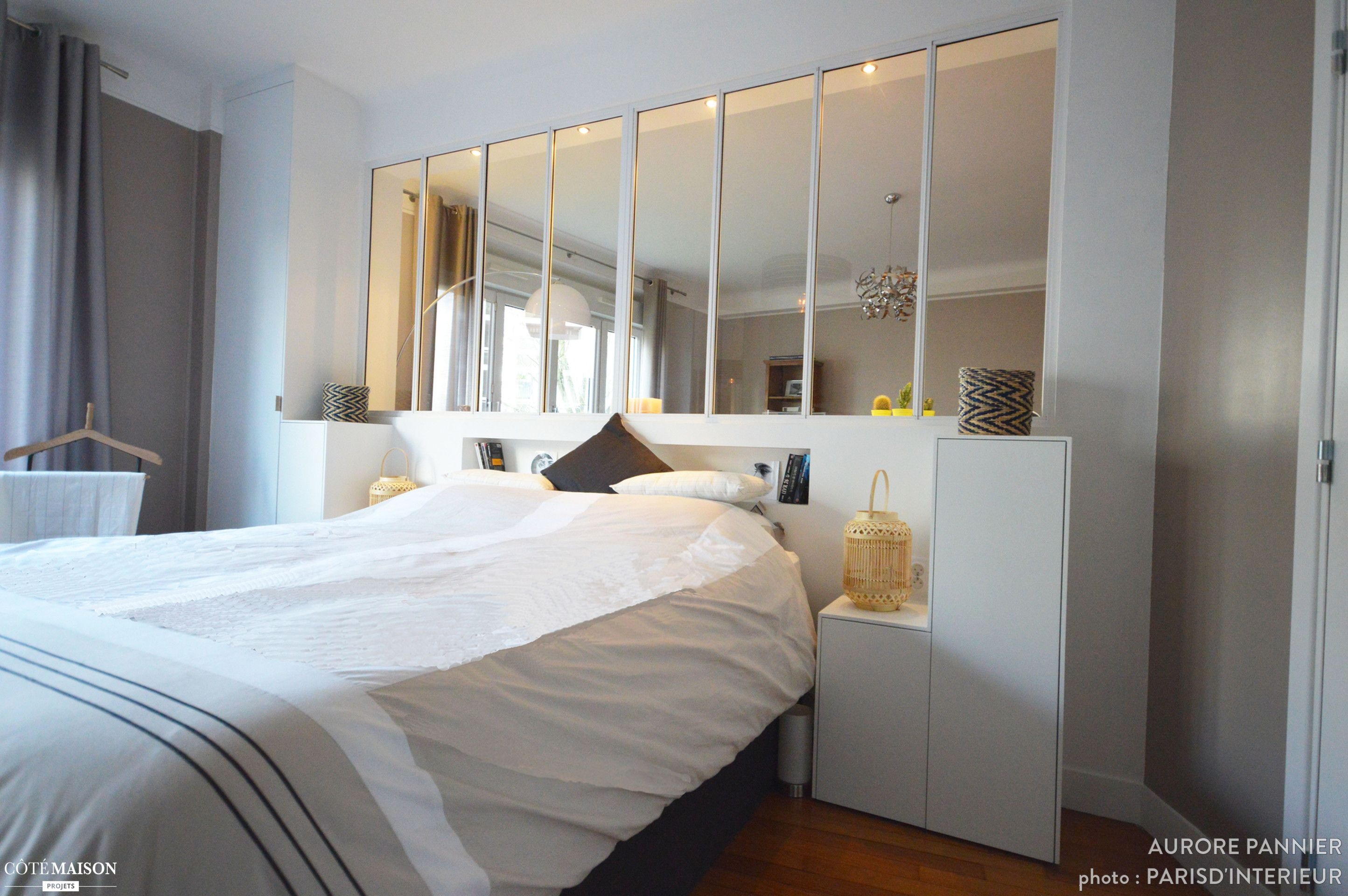 Separer Une Chambre D Un Salon création d'une verrière chambre/salon, versailles, aurore