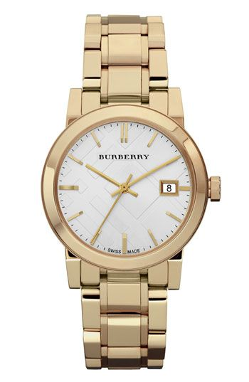 Burberry Medium Check Stamped Bracelet Watch 34mm Available At Nordstrom