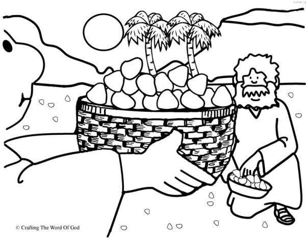 Manna From Heaven Coloring Page Bible Crafts Bible Coloring