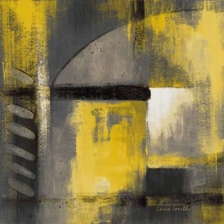 Grey and Yellow Soiree I Canvas Art - Lanie Loreth (24 x 24)