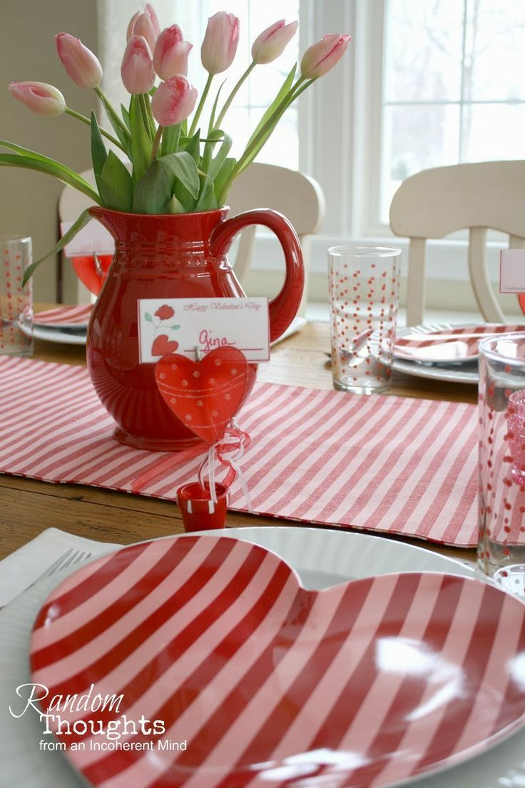 DOLLAR TREE VALENTINES DAY TABLESCAPES | Random Thoughts From An Incoherent  Mind: Be Mine Tablescape