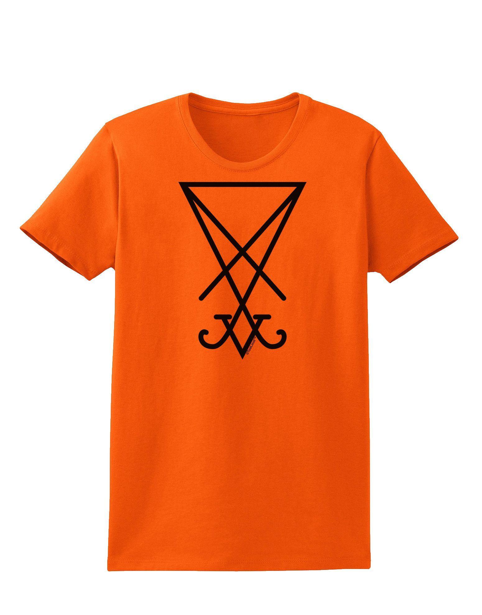 TooLoud Sigil of Lucifer - Seal of Satan Womens T-Shirt