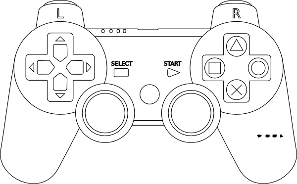 Game Controller Coloring Page Video Games Birthday Party, Video Games  Birthday, Video Game Tester Jobs