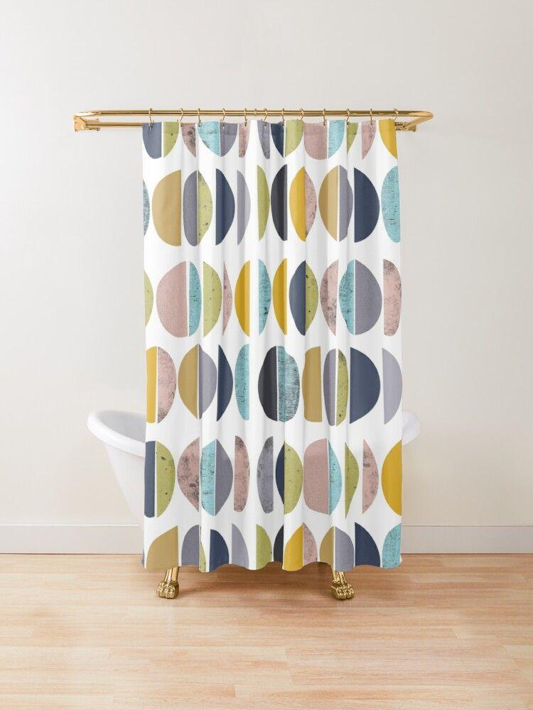 Mid Century Modern Shower Curtain In 2020 Modern Shower