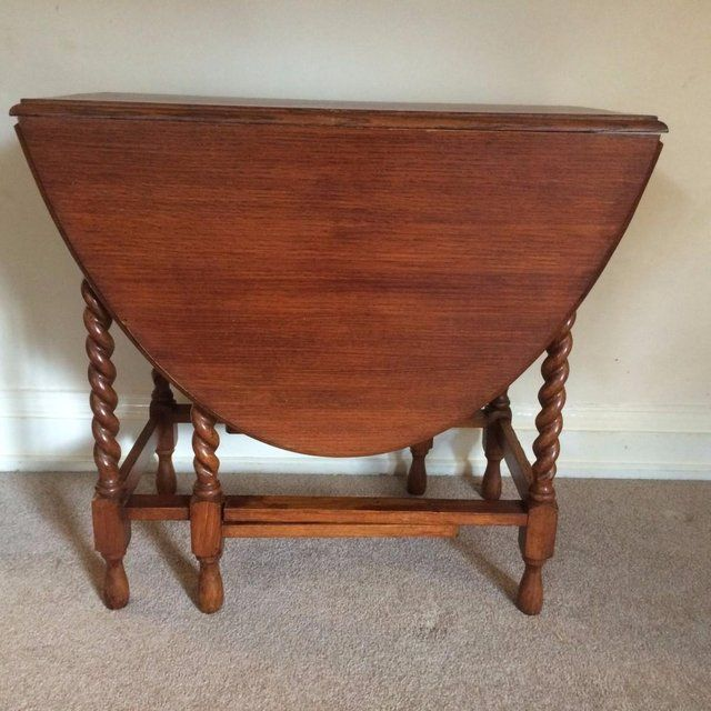 Solid Oak Oval Gateleg Dropleaf Dining Table For Sale In Northamptonshire