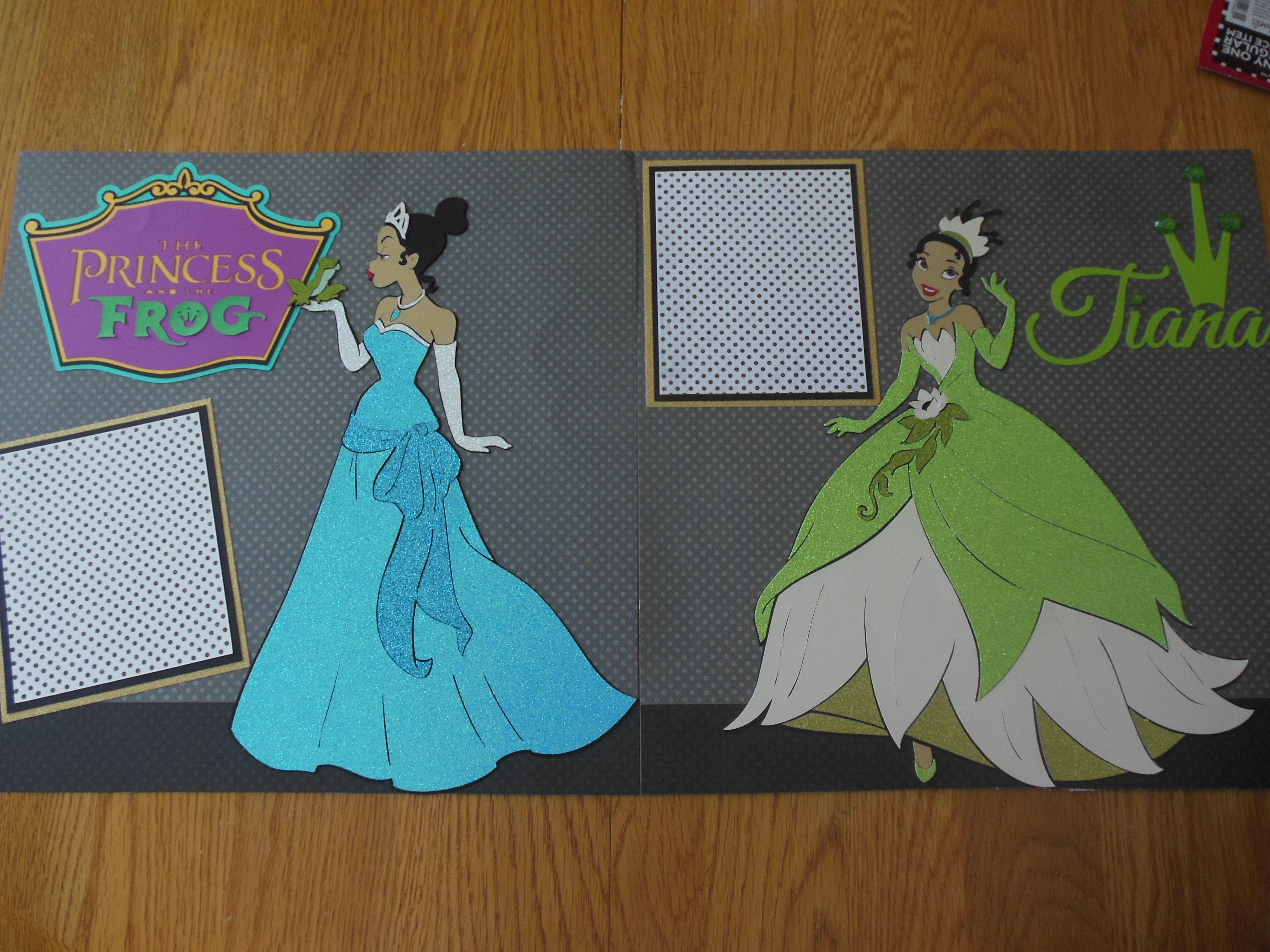 Scrapbook ideas using cricut - Princess And The Frog Layout Using Cricut Princess Believing In Dreams Cartridge Disney Princess Scrapbook Layouts