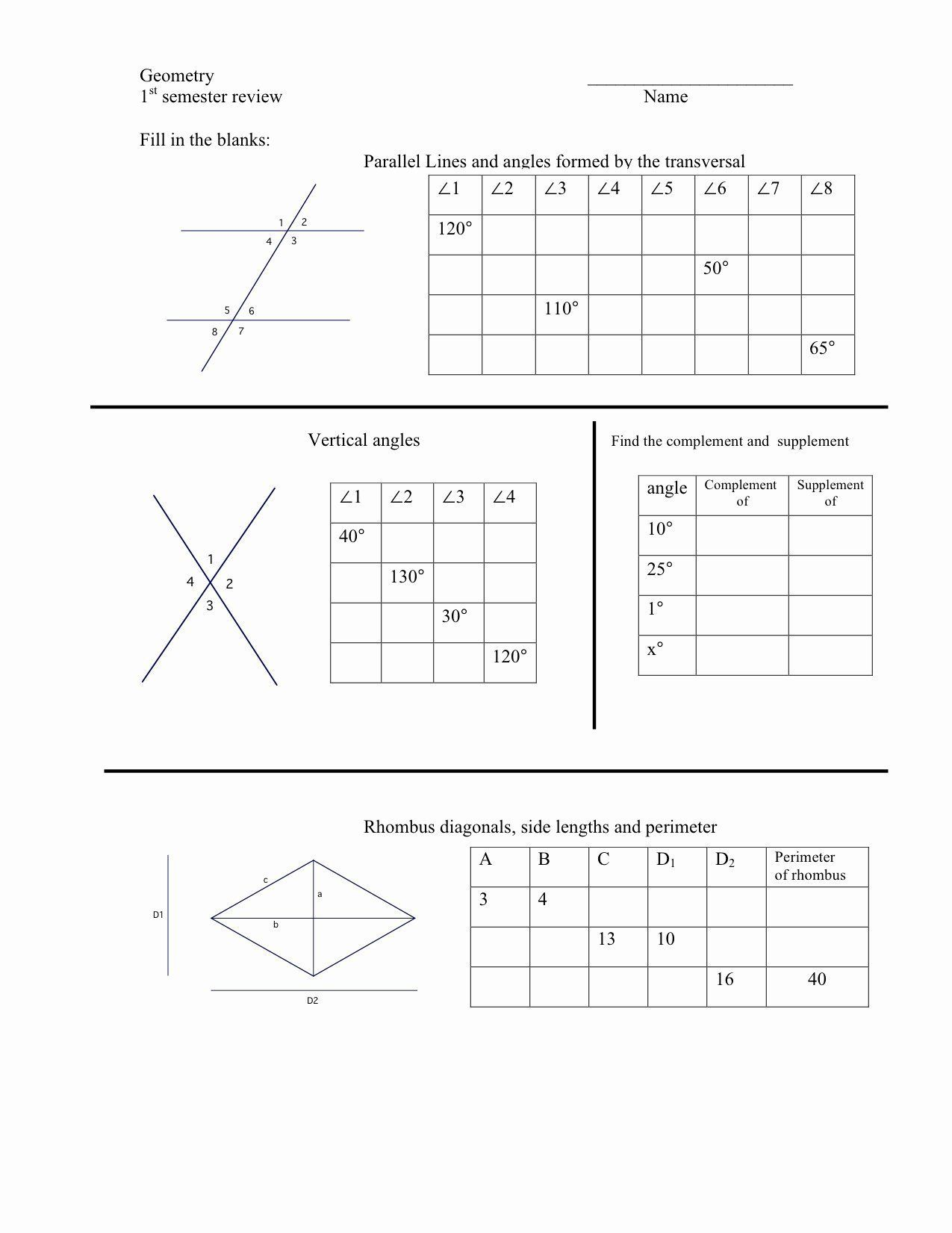 Vertical Angles Worksheet Elegant Worksheets In