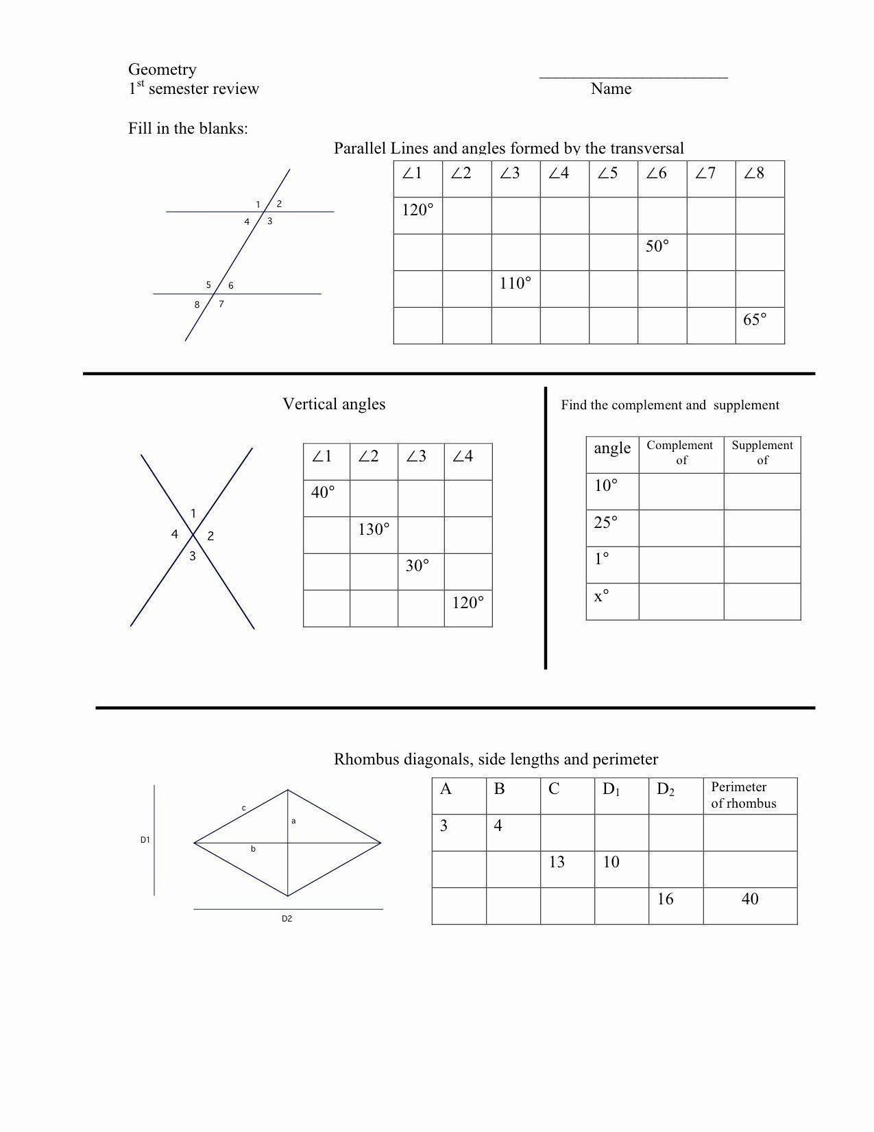 Vertical Angles Worksheet Elegant Worksheets In