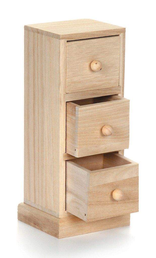 Small Wood Cabinet Tower With Three Drawers 3 54 X 3 15 X 8 2 Inches Wood Cabinets Wood Packaging Wooden Drawers