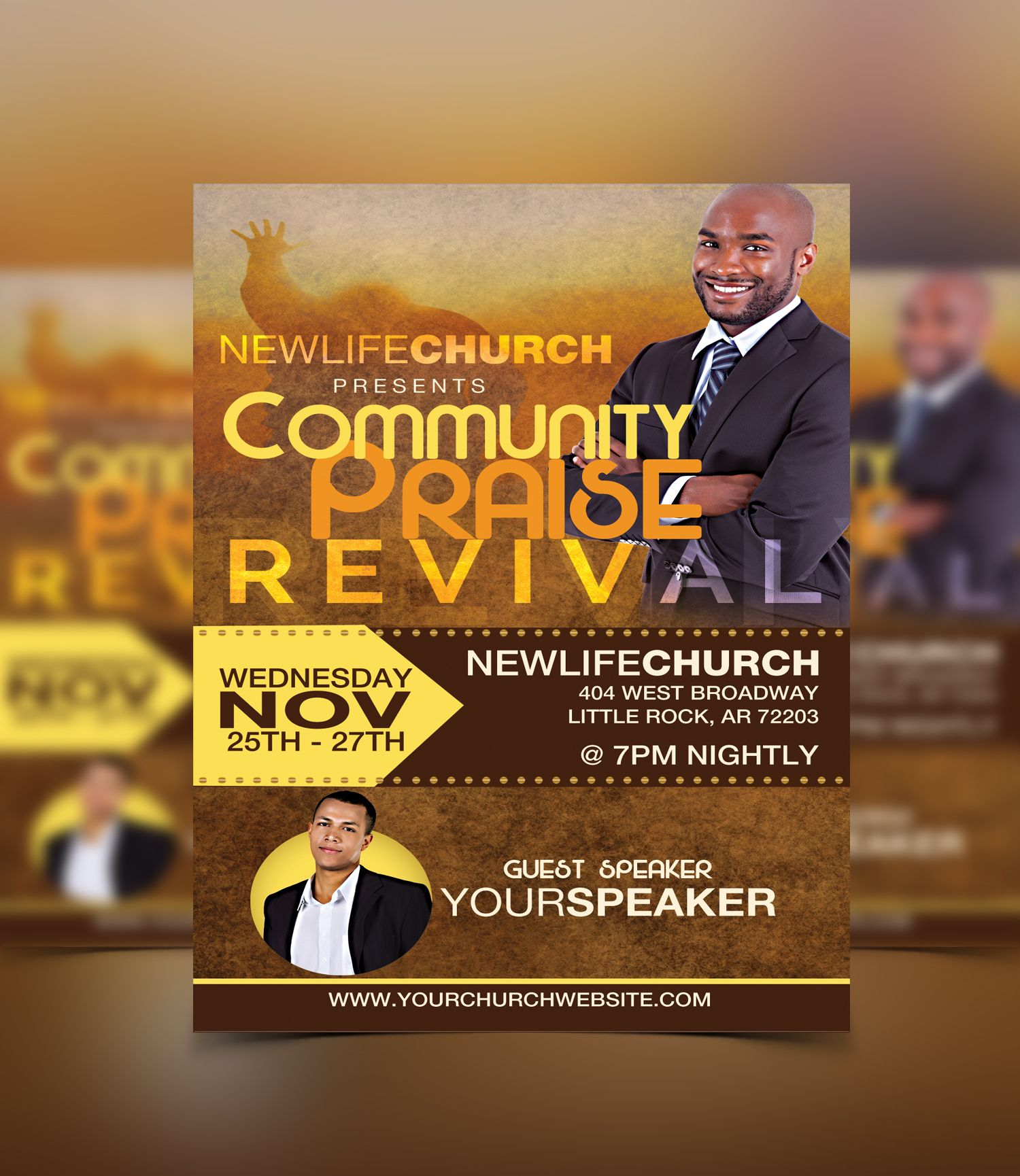 Revival Flyer Template #flyerthemes | Church Flyer Templates ...