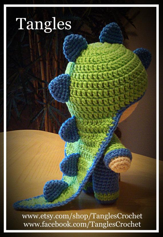 Dinosaur * Big Head Baby Doll * Amigurumi * Made to Order | Muñecas ...
