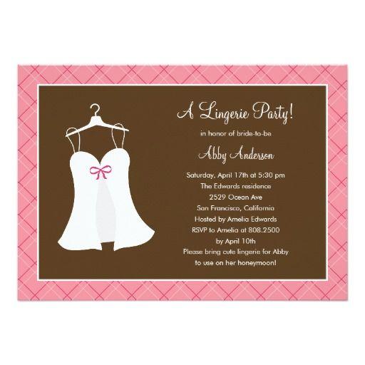 Lingerie Party Bridal Shower Invitation Personalized Announcement
