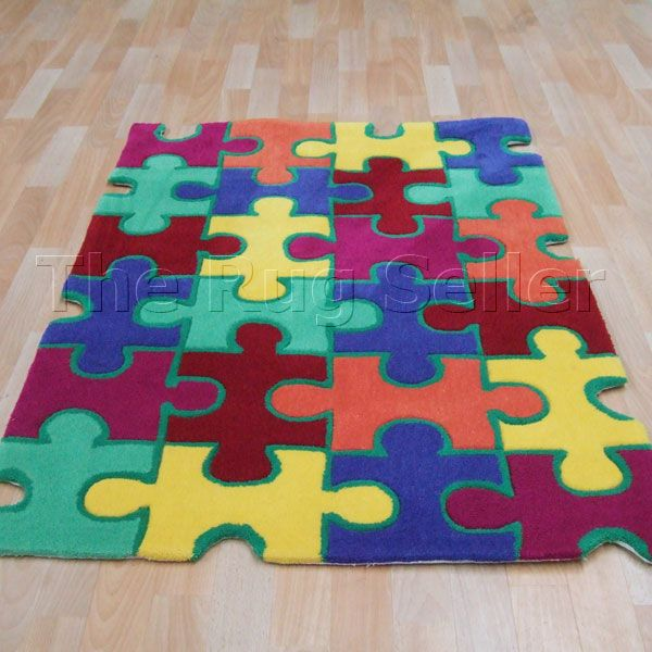 Jigsaw Multi Coloured Childrens Rugs