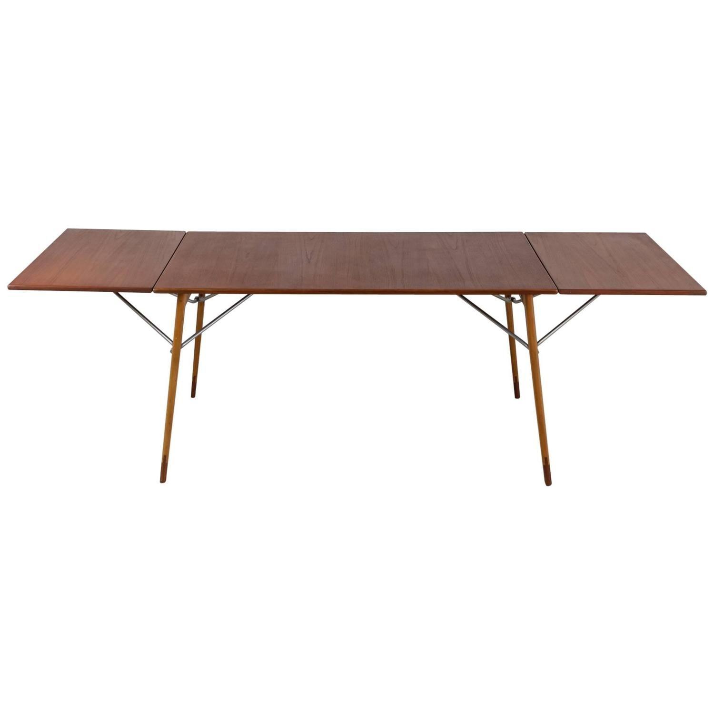 Borge Mogensen Double Drop Leaf Table For Soborg Sweden 1950s