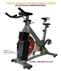 Robot Check Biking Workout Bike Pedal Power