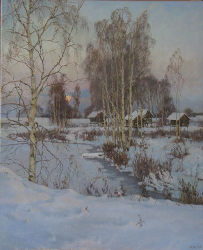 Картина амбары - Коробкина Диана Валерьевна   искусство