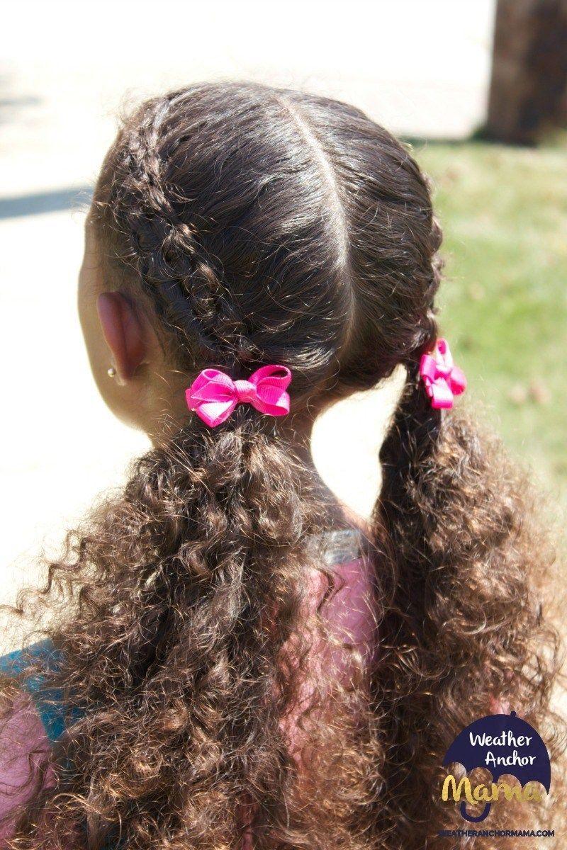 Zipper Braid Hairstyle On Curly Hair Kids Curly Hairstyles Mixed Hair Care Cool Braid Hairstyles