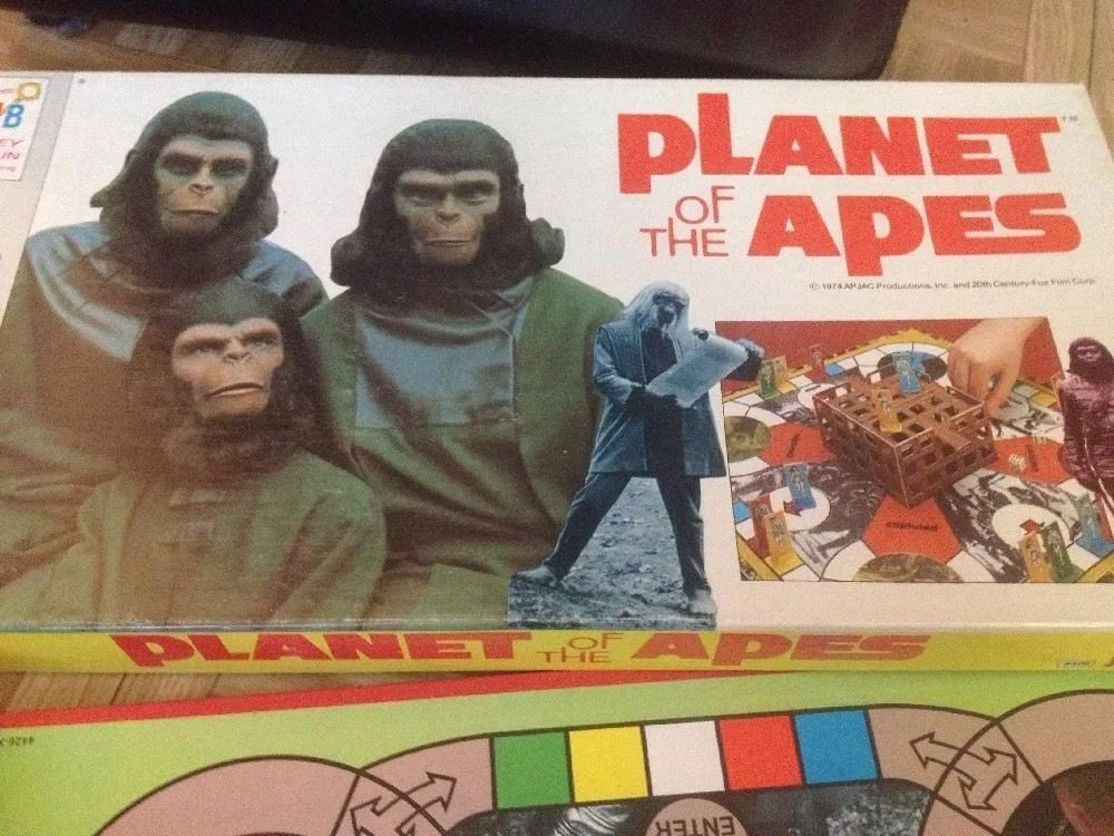 Vintage 1974 planet of the apes milton bradley toy board game jac ...