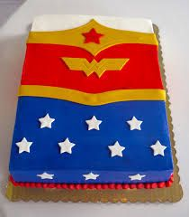 Simple Wonder Woman Cake Wonder Woman Birthday Party