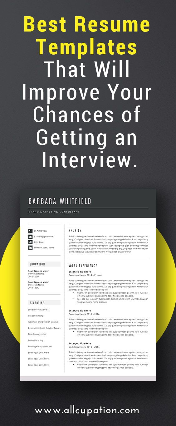 Best resume templates that will improve your chances of getting an - interview resume