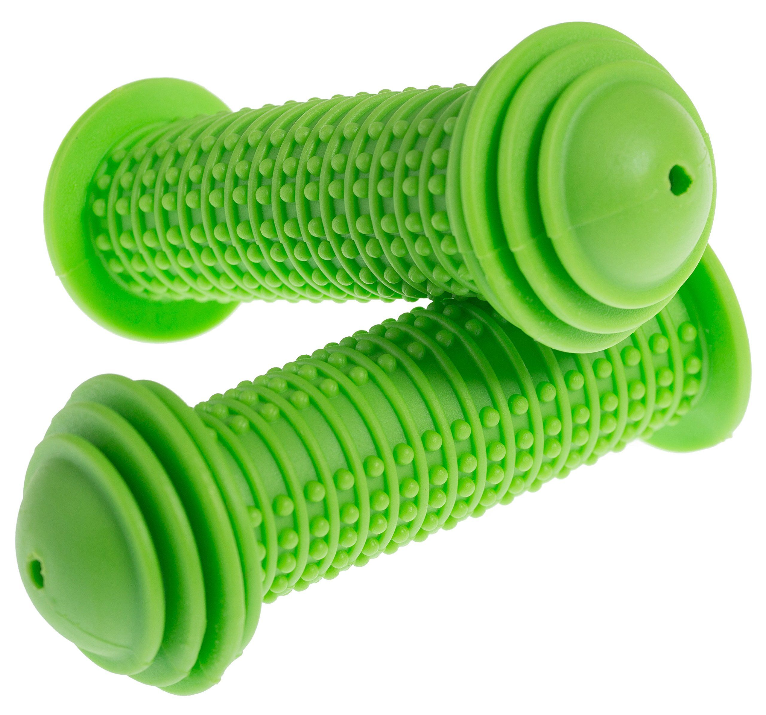 PROMETHEUS Kids Bike Grips 1 Pair in green Bicycle Handlebar