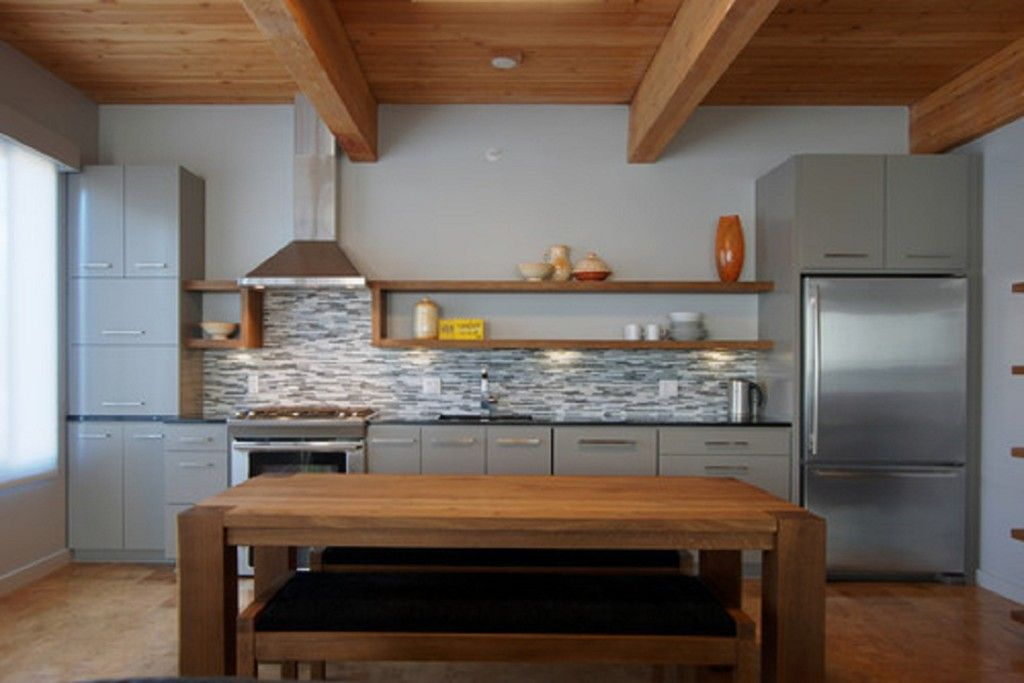 Winning Contemporary Single Wall Kitchen. Kitchen: One Wall .