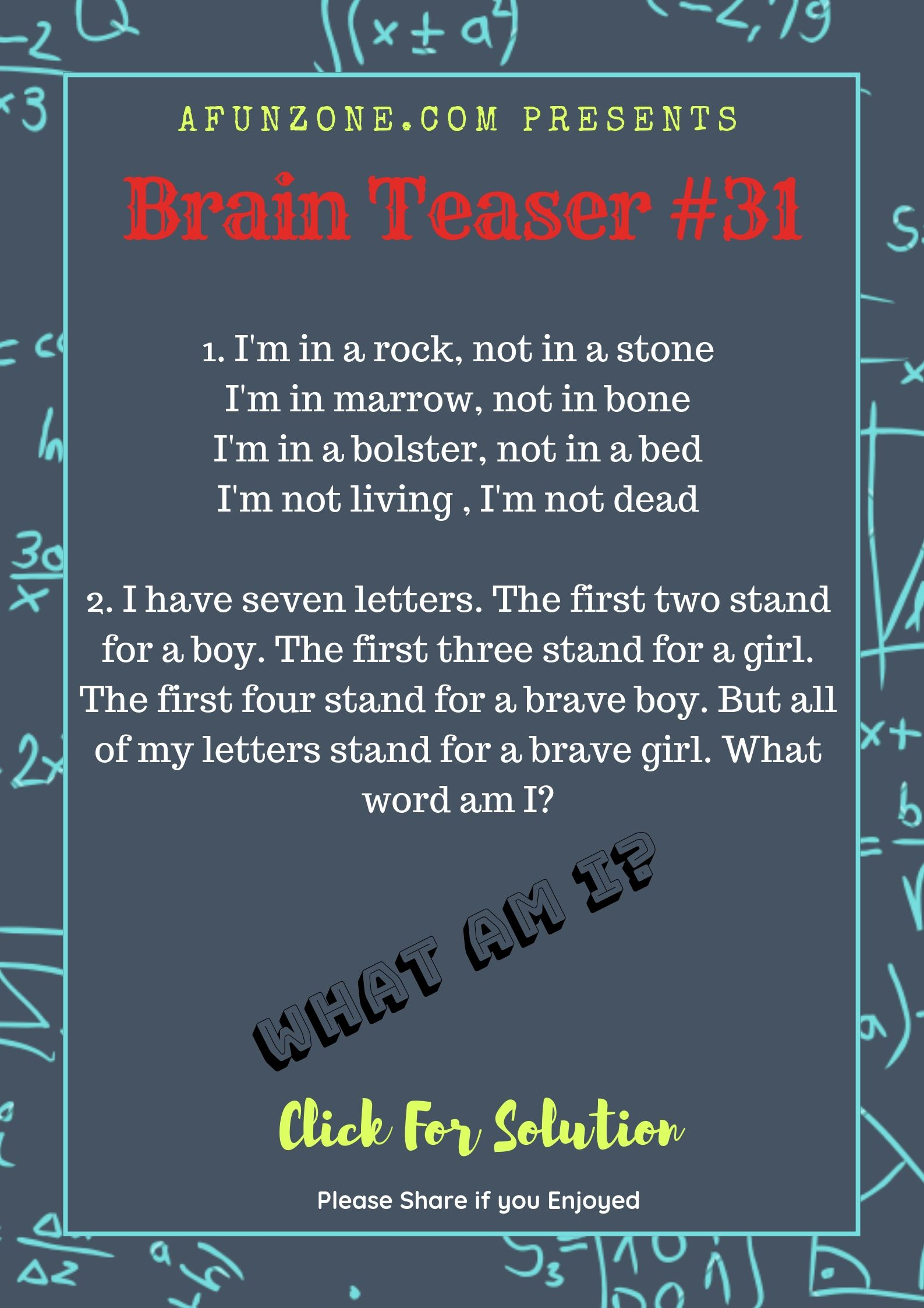 Today S Topic Brainteaser Puzzle Education Words