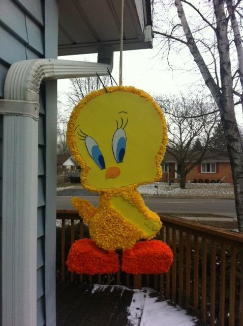 Tweety Bird Pinata By Pinataville On Etsy 100 00 Bird