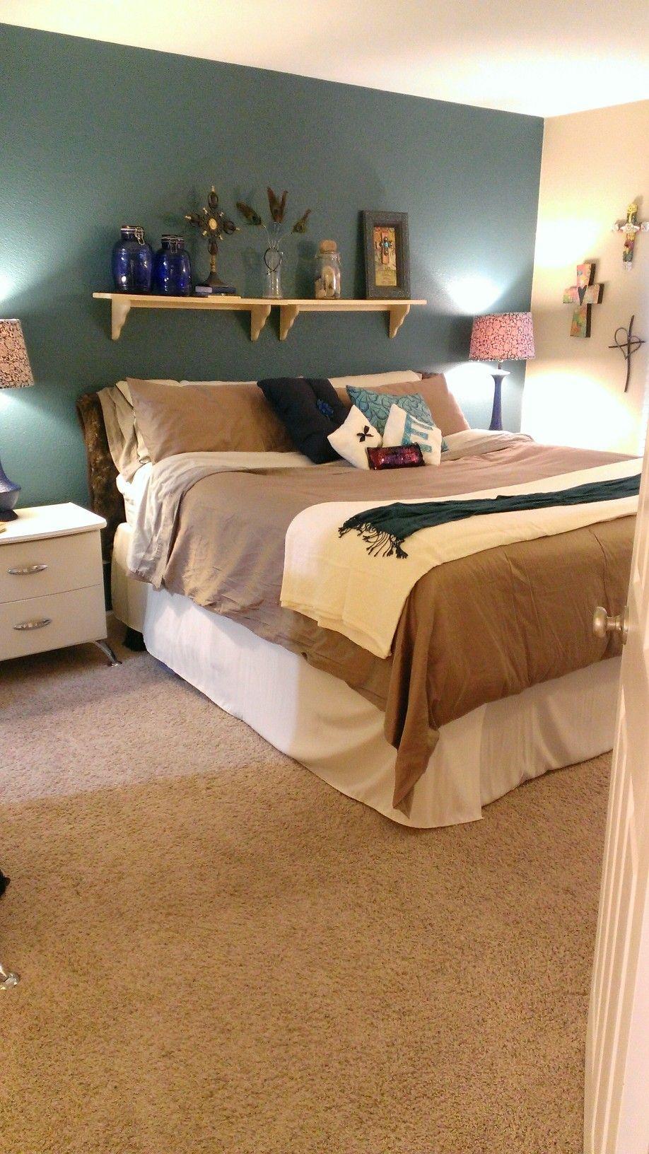 Diy Shelf Headboard diy pillows, shelf headboard | bedroom sanctuary | pinterest