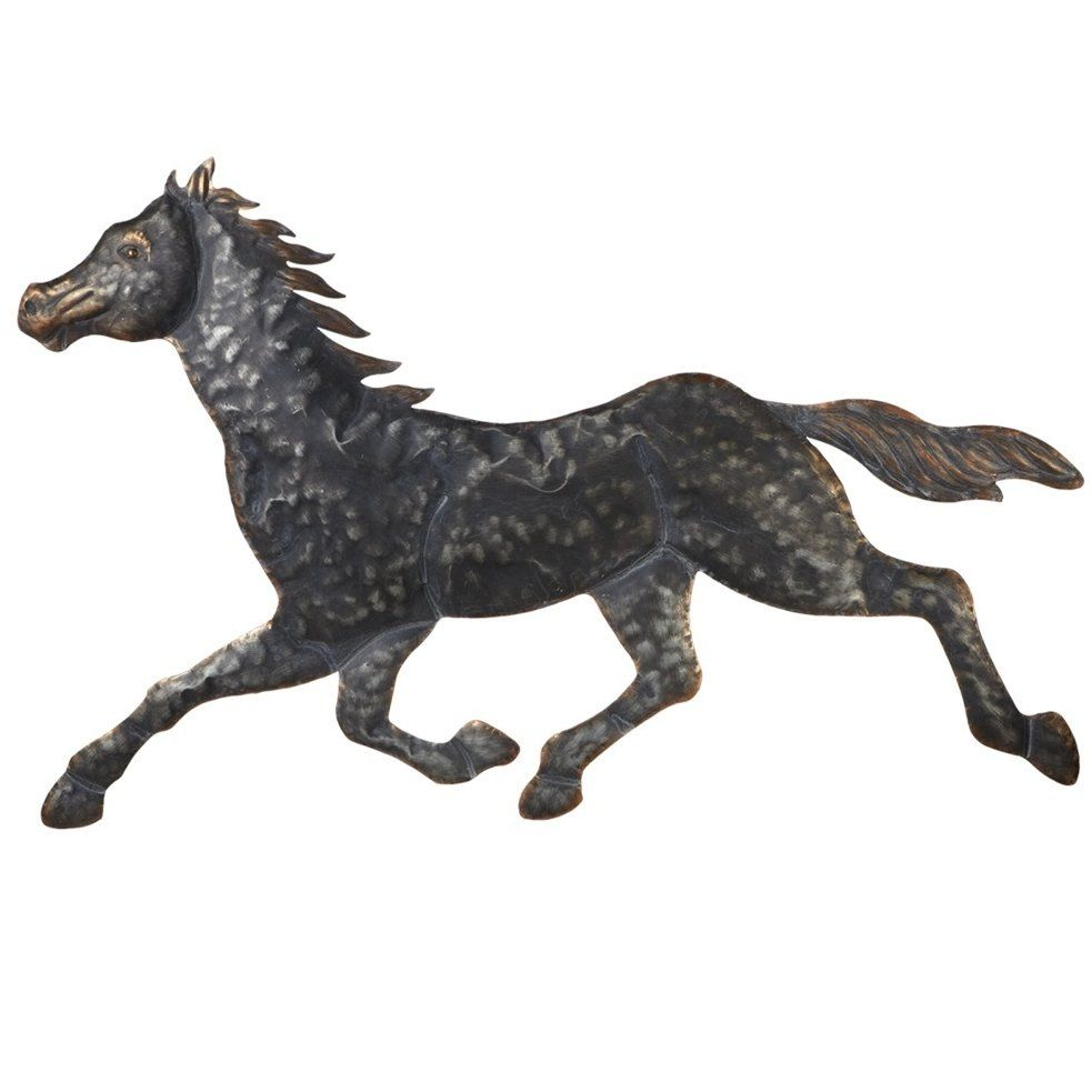 Stamped Galloping Horse Wall Décor