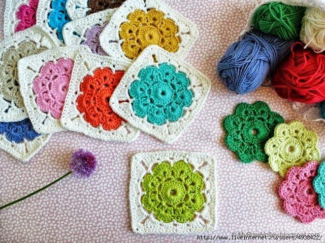 Grannys paso a paso para principiantes | Crochet y Dos agujas ...