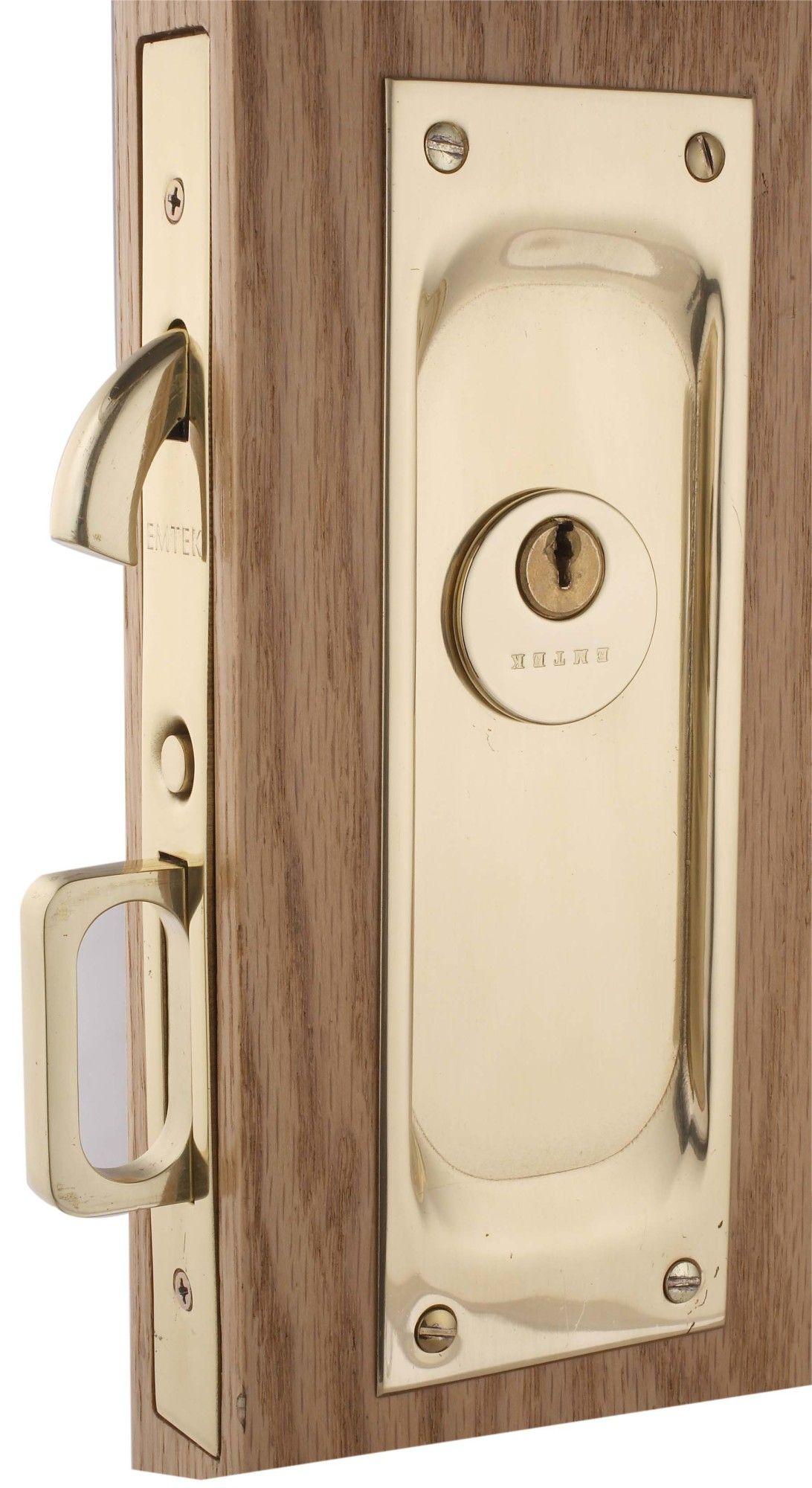 Emtek 2103twb Tumbled White Bronze 7 1 2 Height Solid Brass Keyed Entry Pocket Door Mortise Lock Pocket Doors Mortise Lock Emtek