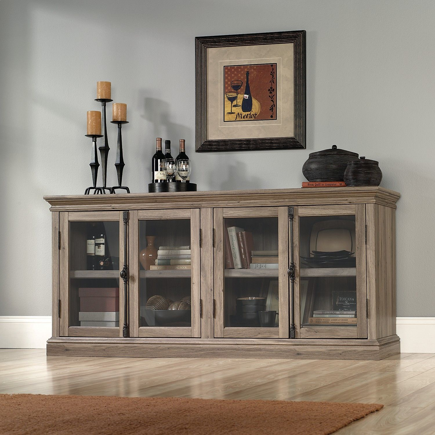 """Dining Room Storage Ideas To Keep Your Scheme Clutter Free: Barrister Lane 70"""" TV Stand – Salt Oak"""
