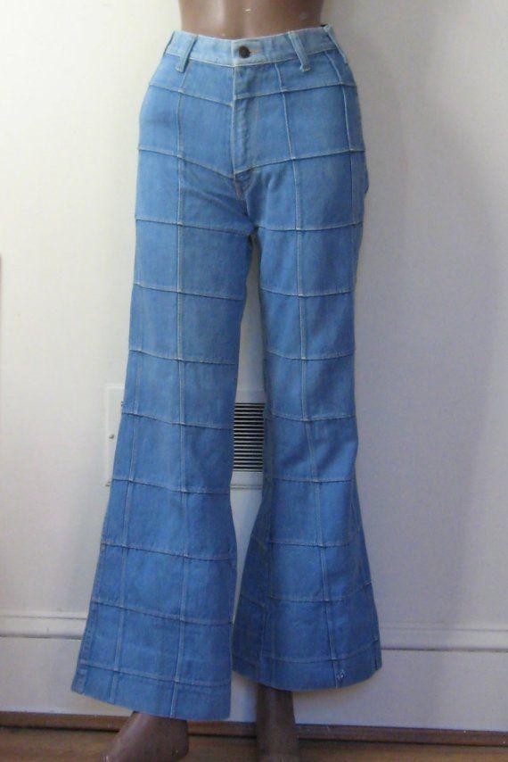 27c03126 70s Patchwork \/ Bellbottom Flares \/ Vintage 'Brittania' Jeans ...