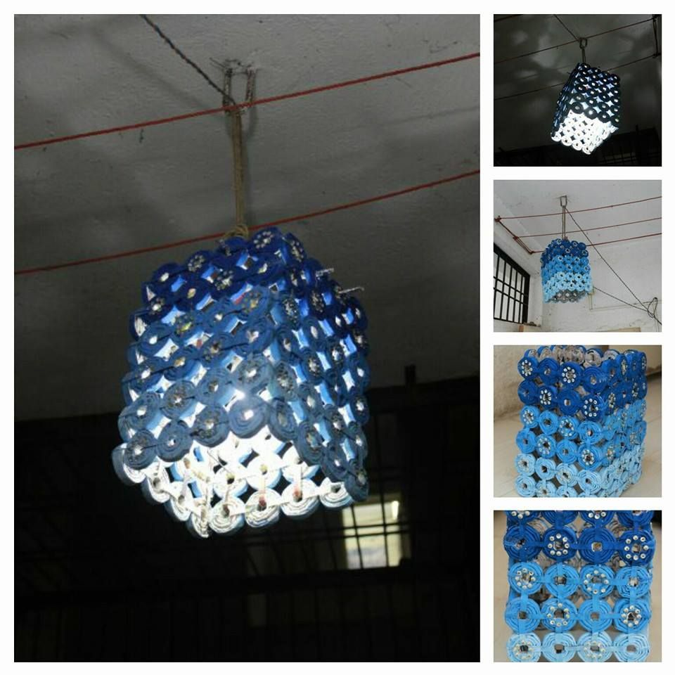 Made this lantern with waste newspapers121111524 obemnaya for Waste paper craft