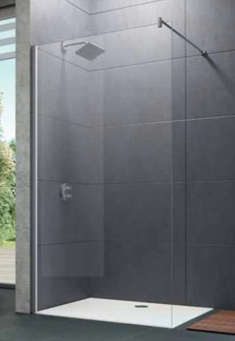 Paroi de douche walk in de chez huppe compos e d 39 une porte - Poser une paroi de douche fixe ...