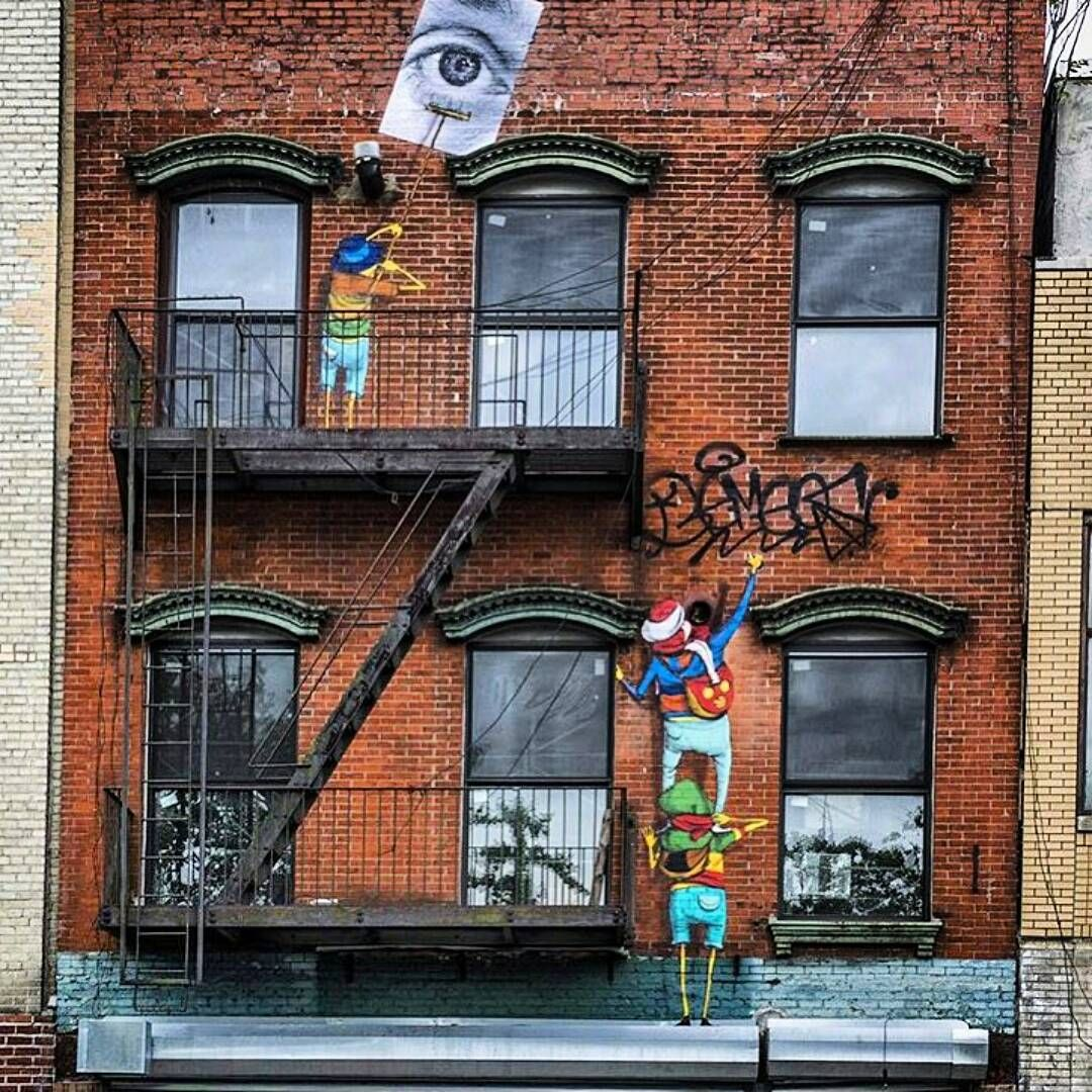 "Graffiti Clicks and Street Art on Instagram: ""Work by @osgemeos @jr"""