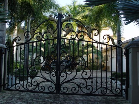 Wrought Iron Custom Gates Metal Gates Garden Gates Driveway Entrances Ornamental Iron Dr Wrought Iron Gate Designs Wrought Iron Driveway Gates Iron Gate Design