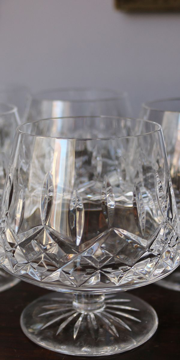 Tyrone Crystal Brandy Glasses 6 Lord Wallington Mens Fashion And